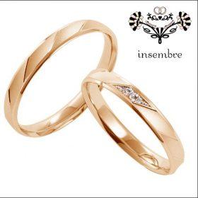 インセンブレの結婚指輪 ピンクゴールド