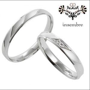 インセンブレの結婚指輪 プラチナ