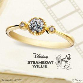 ディズニーブライダル ミッキーの婚約指輪(エンゲージリング)1