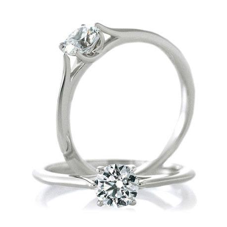 カフェリングの婚約指輪(エンゲージリング)ロゼットデュー