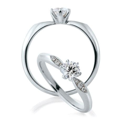 カフェリングの婚約指輪(エンゲージリング)サツキバイ