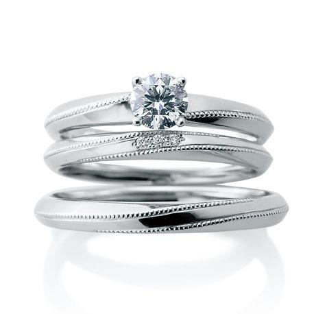 CafeRing結婚指輪と婚約指輪の重ね付け