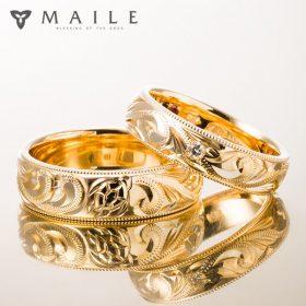 ハワイアンジュエリーの結婚指輪(マリッジリング)2