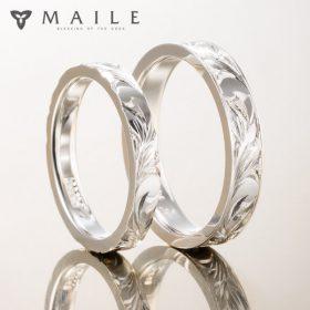 ハワイアンジュエリーの結婚指輪(マリッジリング)1