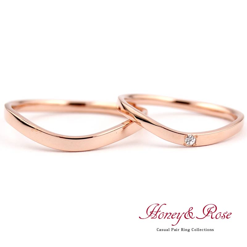 ハニー&ローズの結婚指輪/M003-004