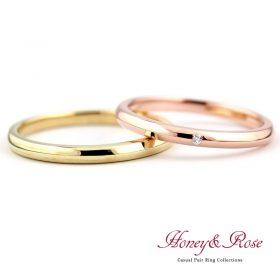 ハニー&ローズの結婚指輪/M007-008