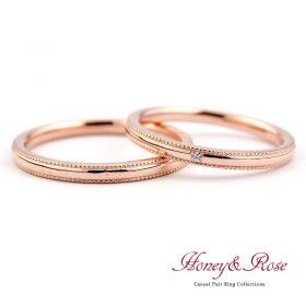 ハニー&ローズの結婚指輪/M011-012