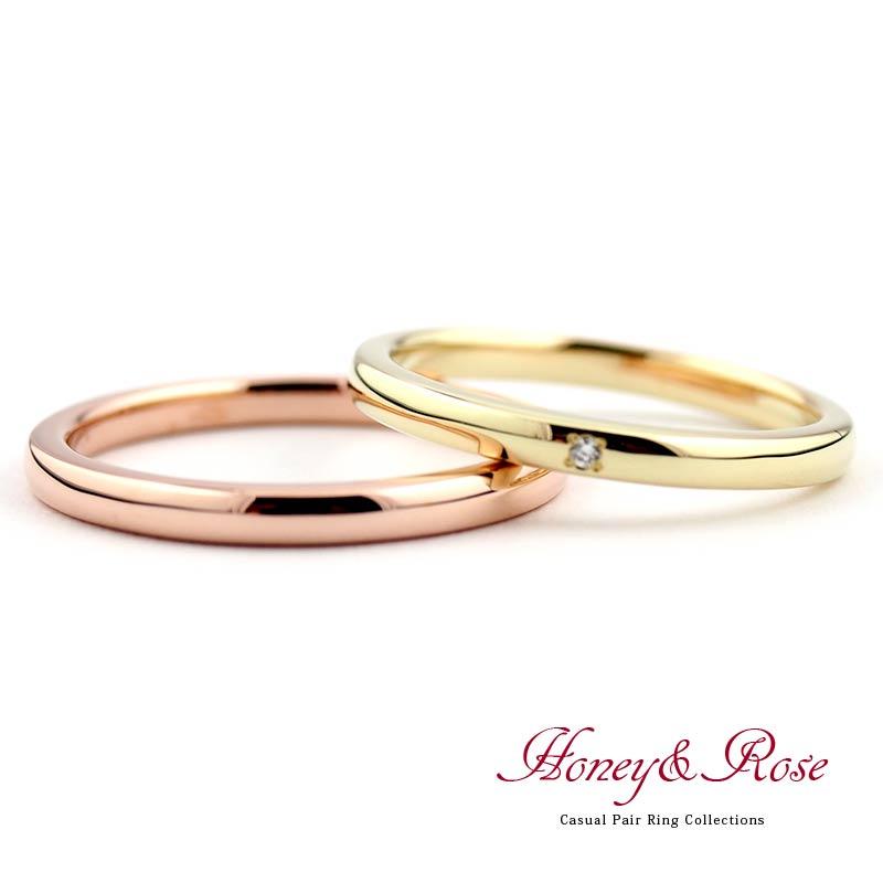 ハニー&ローズの結婚指輪/M013-014