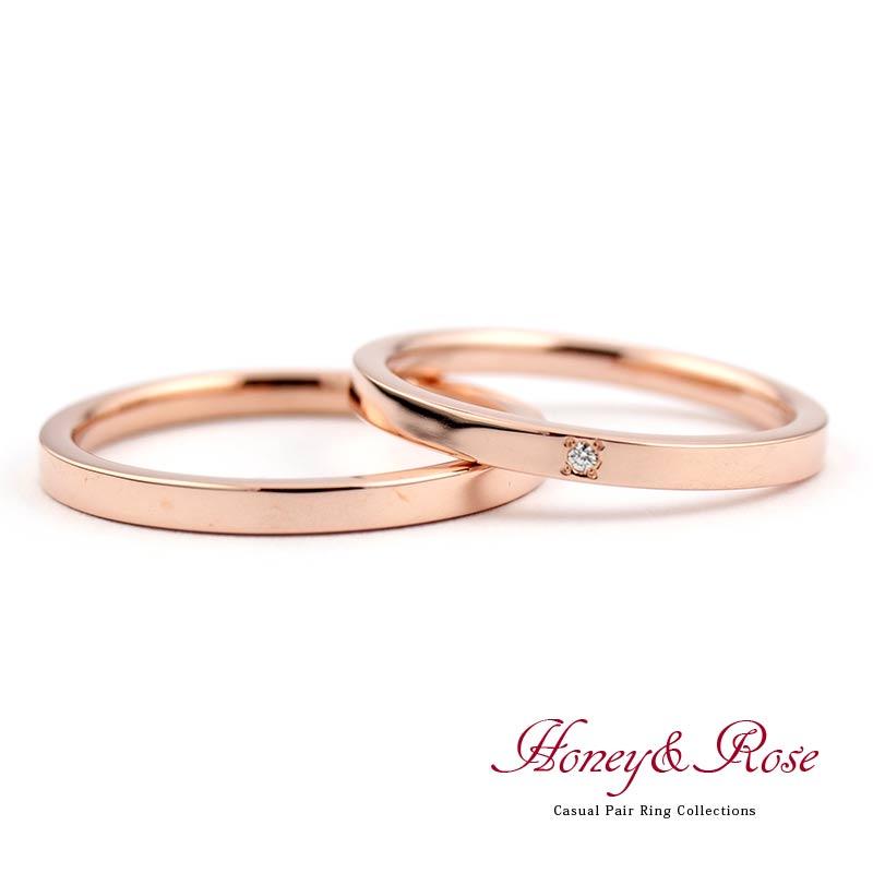 ハニー&ローズの結婚指輪/M017-018